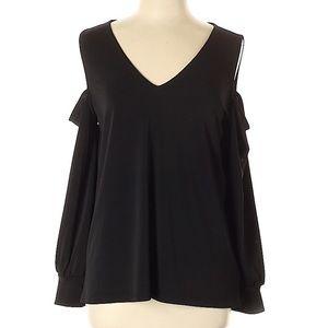 L Express Cold Shoulder Long Sleeve Shirt